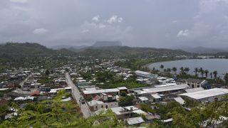 Blick über Baracoa auf den Tafelberg