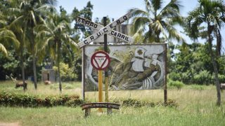Bahnübergang kubanisch