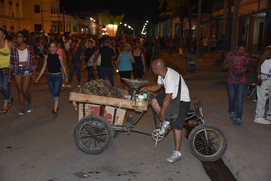 Strassenkarneval : Verkäufer Im Getümmel